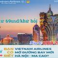 Vietnam Airlines mở đường bay mới Hà Nội - Ma Cao