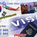 Xin visa đi Đài Loan mua vé máy bay Vietjet Air