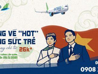 Bamboo Airways ưu đãi nhân ngày Thành lập Đoàn